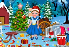 Little Anna Christmas Cleaning