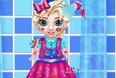 Little Baby Elsa Messy