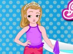 Little Girl Bathroom Cleaning