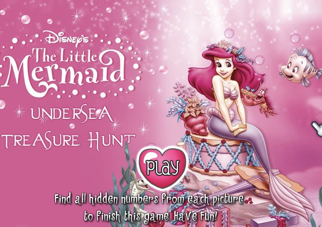 Little Mermaid Undersea Treasure Hunt