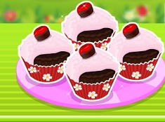 Make Chocolate Cherry Cupcakes