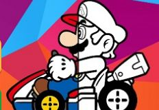 Mario Driving Colouring Book