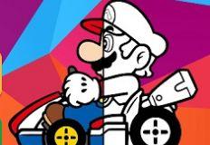 Mario Driving Colouring Book