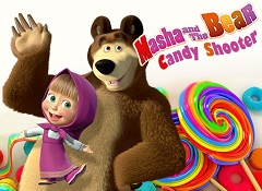 Play Masha and the Bear Candy Shooter Game