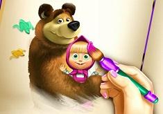 Masha and the Bear Coloring Book