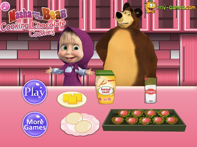 Masha and the Bear Cookie Cooking