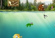 Masha and the Bear Fishing