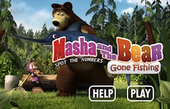 Masha and the Bear Gone Fishing