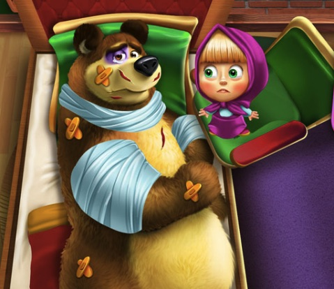 Masha and the Bear Injury