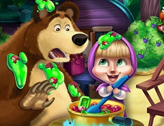 Masha and the Bear Kitchen Mischief