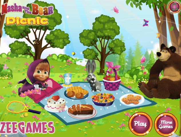 Masha and the Bear Picnic