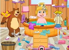 Masha Bathroom Cleaning