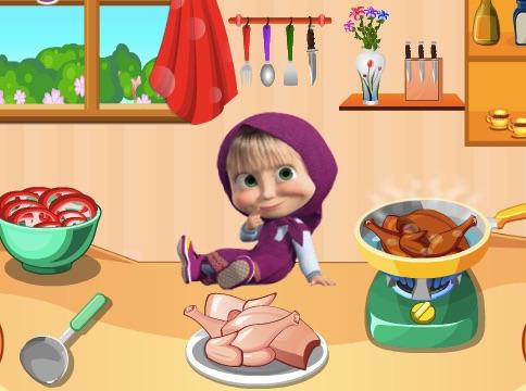 Masha cooking game