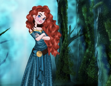 Merida Dress Up