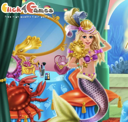 Mermaid Canival Make Up Room