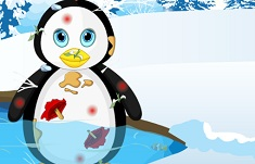 Messy Penguin Christmas Makeover