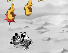 Mickey and Minnie Flying