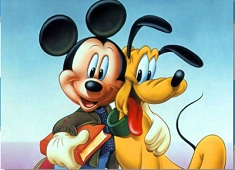 Mickey and Pluto Friends Puzzle
