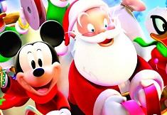 Mickey and Santa Christmas