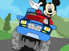 Mickey Mouse Cars Hidden Letters