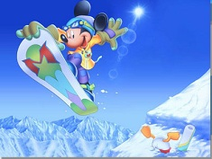 Mickey Mouse Snowboarding Puzzle