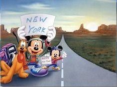 Mickey Traveling to New York Puzzle