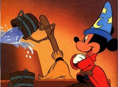 Mickey Wizard Cleaning Puzzle