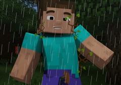 Minecraft Forest Storm
