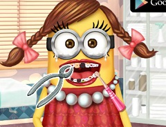 Minion Girl at the Dentist