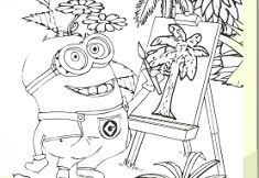 MINIONS COLORING BOOK - MINION GAMES
