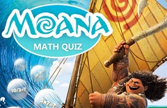 Moana Math Quiz Game