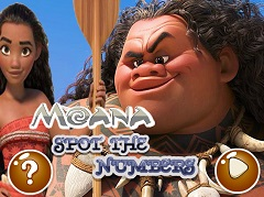 Moana Spot the Numbers