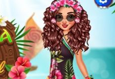 Moana Stylish Tropical Flowers