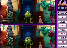 Monster University Spot the Difference