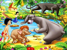 Mowgli and Jungle Friends Puzzle