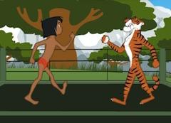 Mowgli Boxing the Tiger