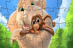 Munki and Trunk Jigsaw Puzzle