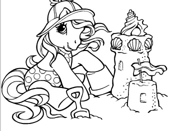 My Little Pony Beach Coloring