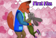 Nick and Judy First Kiss