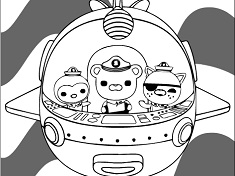 octonauts coloring - Colouring Games For Kids
