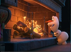 Olaf By the Fireplace Puzzle