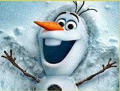 Olaf Snow Angel Puzzle
