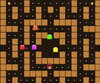 Pacman Angry Birds