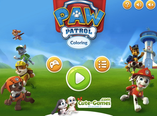 Paw Patrol Coloring Pages Game : Pokemon paw patrol coloring images