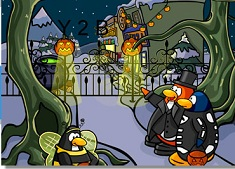Penguins at Halloween