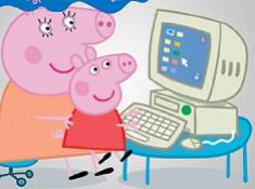 Peppa Pig at the Computer