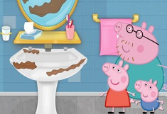 Peppa Pig Bathroom Clean