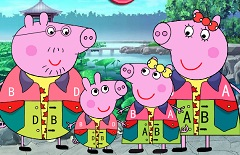 Peppa Pig Family Japanese Style