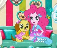 Pinkie Pie at Pet Salon