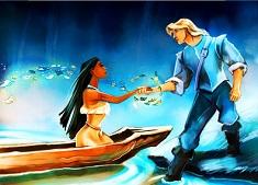 Pocahontas and John Smith…